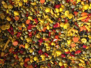 فروش ترشی اسپانیایی مخلوط با گوجه